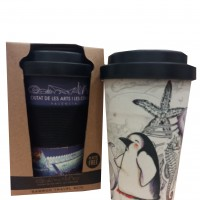 Bamboo Travel Mug 5 Animales