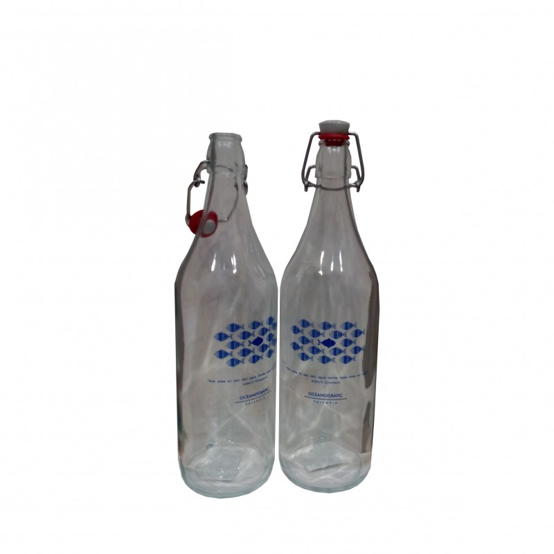 Botella Cristal Peces Oceanogràfic