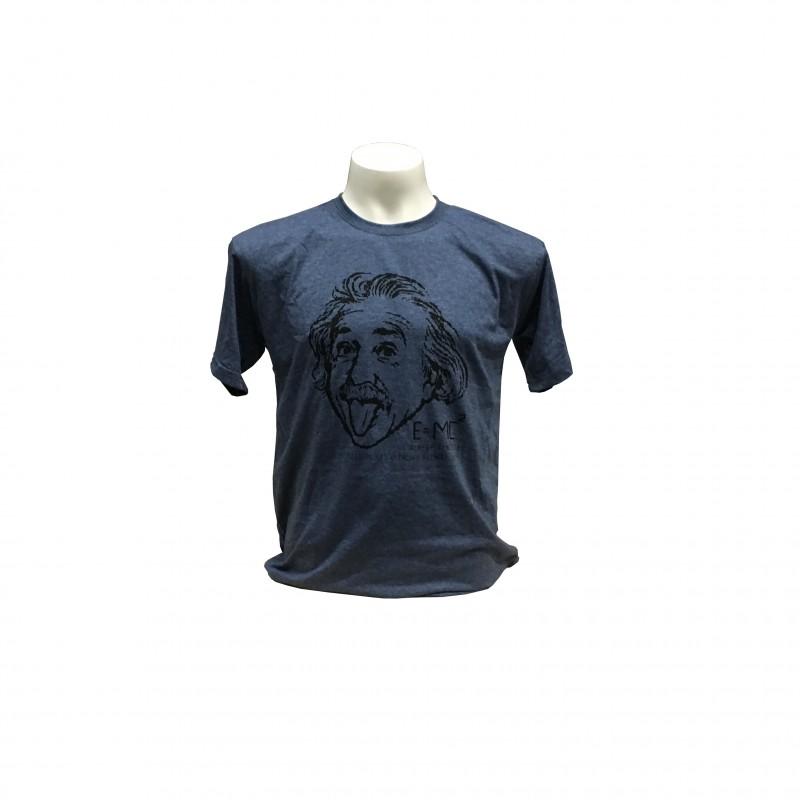 Camiseta Adulto Einstein Museo Gris