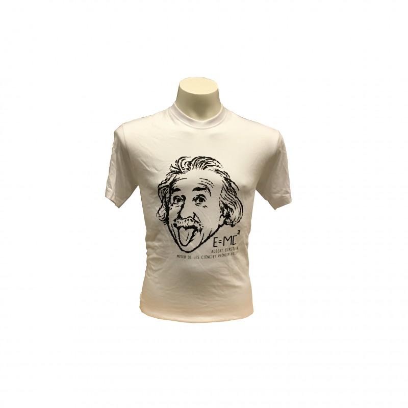 Camiseta Adulto Einstein Museo Blanco