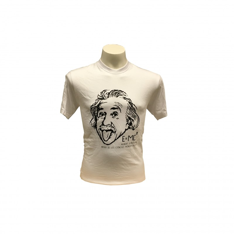 Camiseta Adulto Einstein Museo Blanco