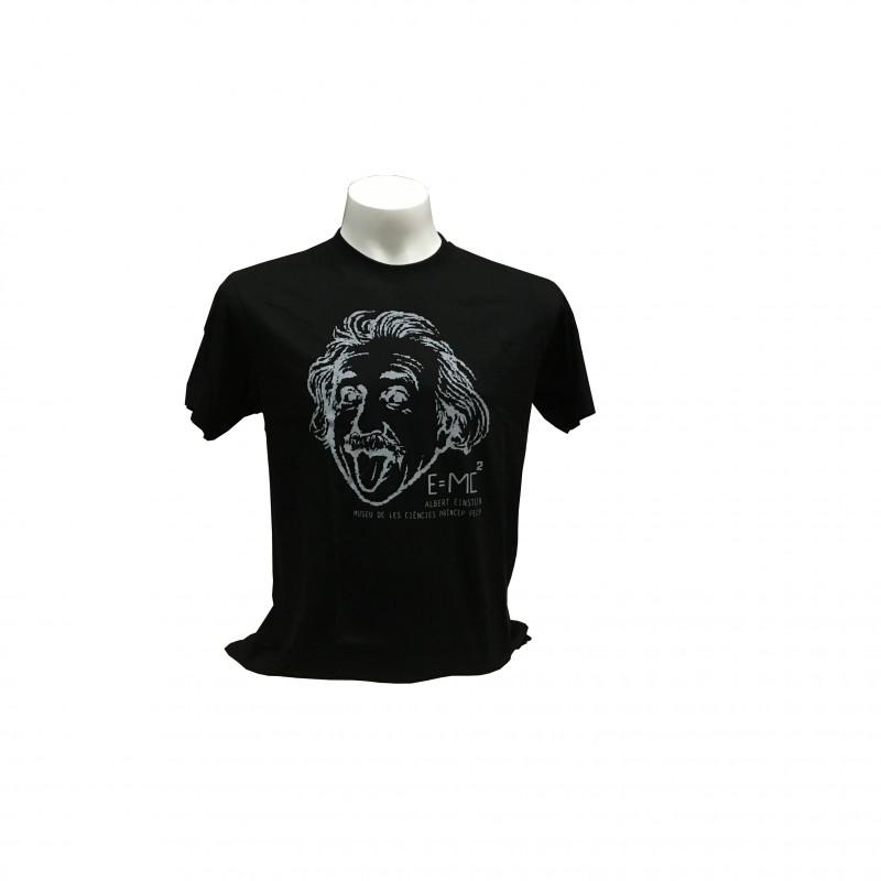 Camiseta Adulto Einstein Museo Negro