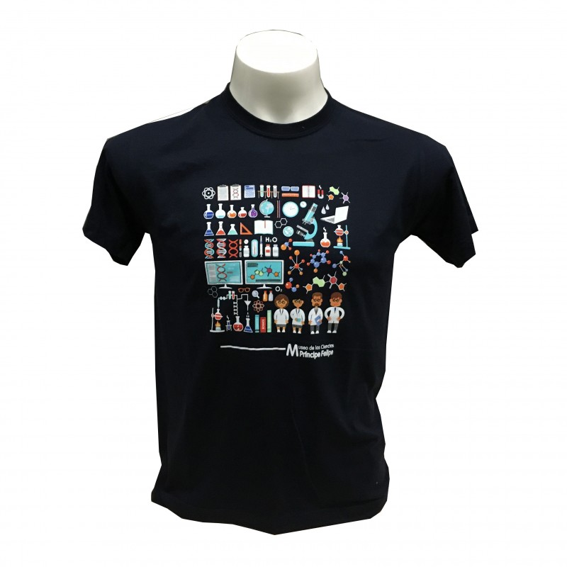 Camiseta Adulto Laboratorio Museo Azul