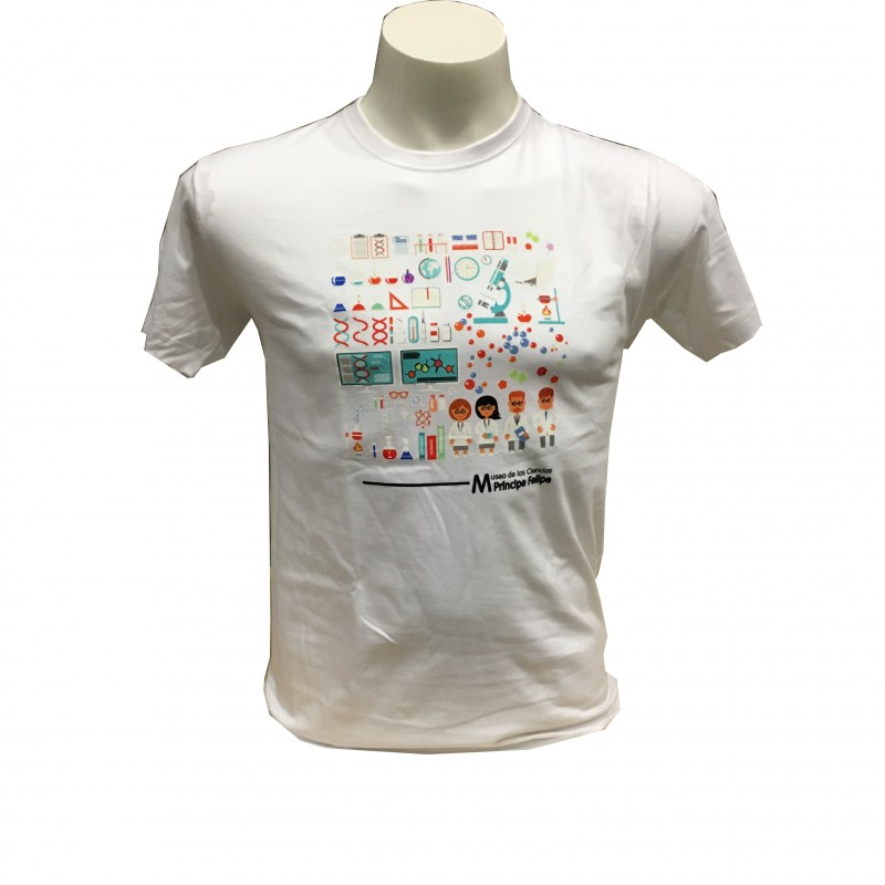 Camiseta Adulto Laboratorio Museo Blanco