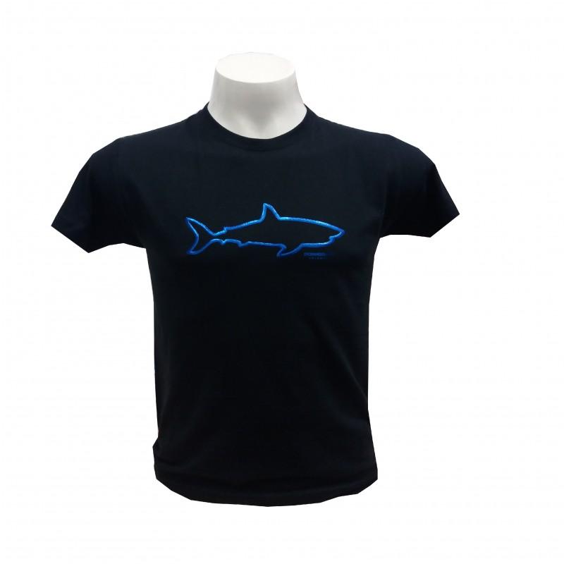 Camiseta Adulto Silueta Tiburón