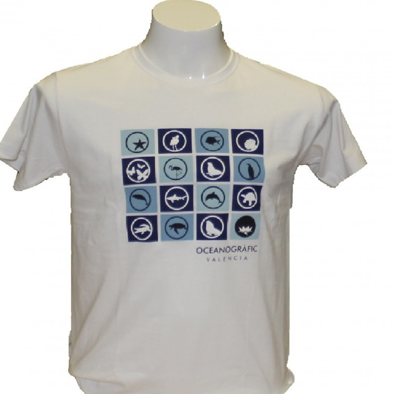 Camiseta Adulto Iconos Oceanogràfic