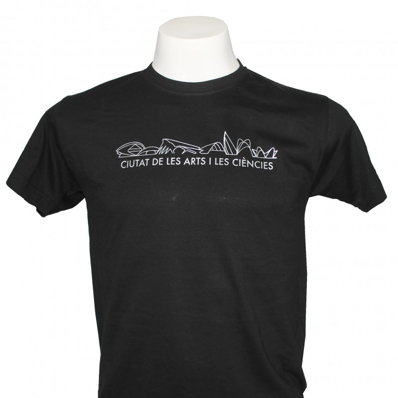 Camiseta Adulto Skyline Negro
