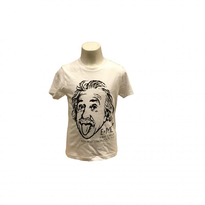 Camiseta Infantil Einstein Museo Blanco