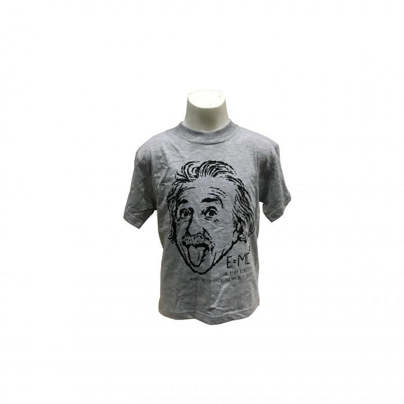 Camiseta Infantil Einstein Museo Gris