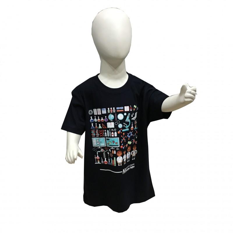 Camiseta Infantil Laboratorio Museo Azul