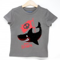 Camiseta Infantil Lentejuelas Tiburón