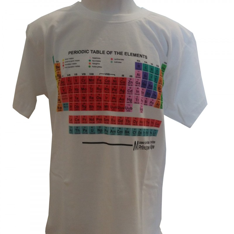 Camiseta Infantil Tabla Periódica Museo Blanco
