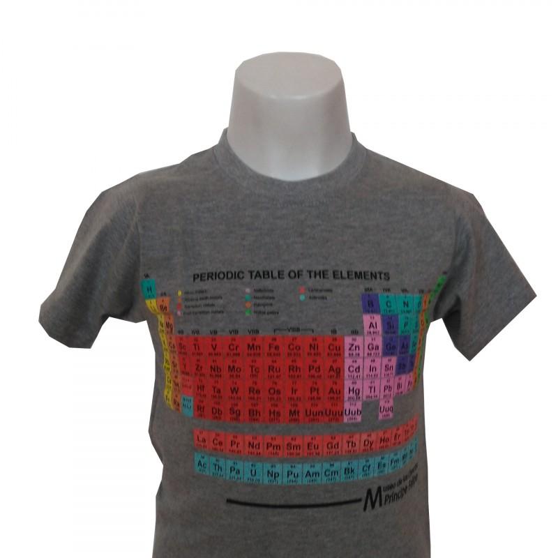 Camiseta Infantil Tabla Periódica Museo Gris