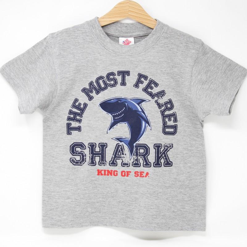 Camiseta Infantil Tiburón Gris