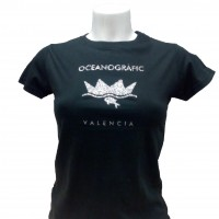 Camiseta Mujer Oceanogràfic Negro