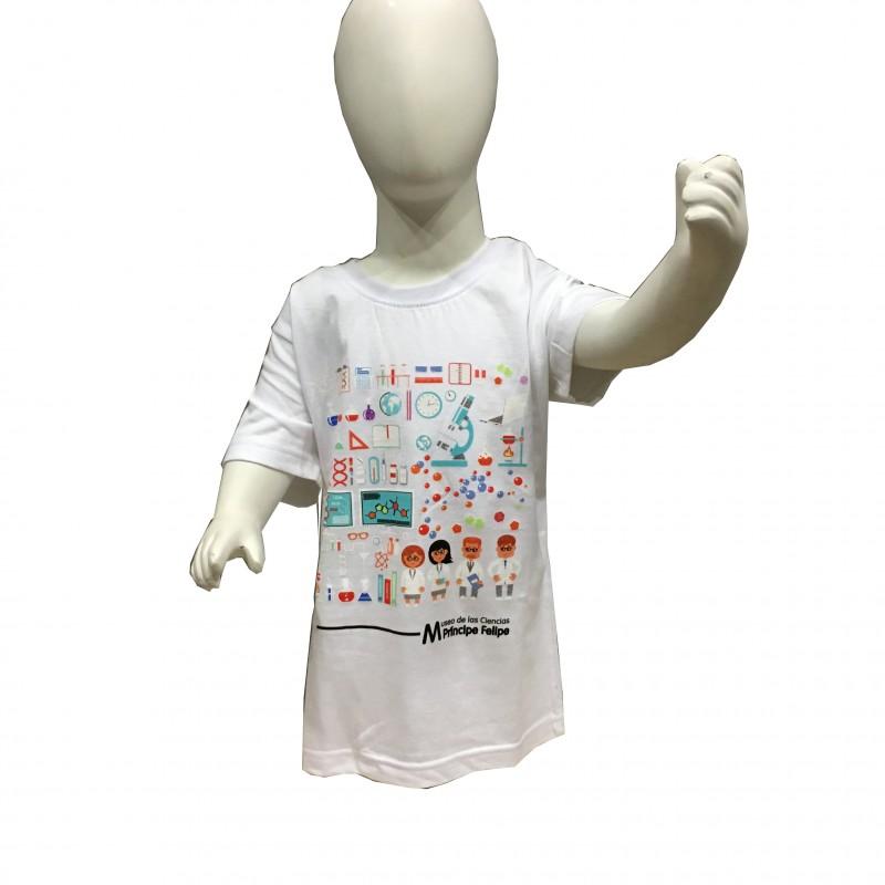 Camiseta Infantil Laboratorio Museo Blanco