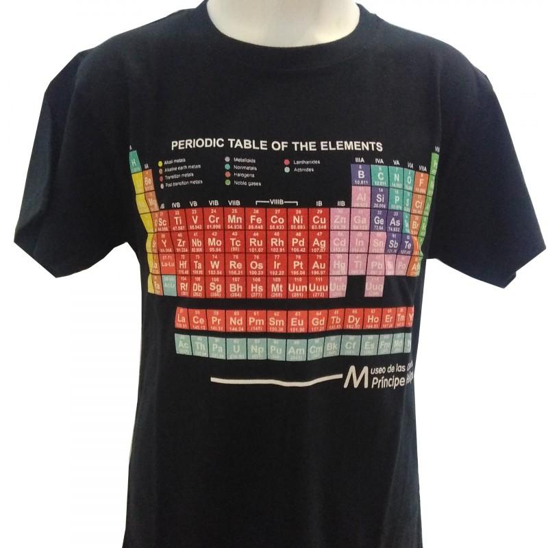 Camiseta Infantil Tabla Periódica Museo Azul