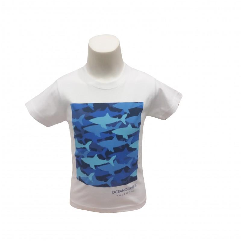 Camiseta Infantil Tiburones