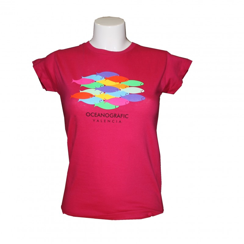 Camiseta Mujer Peces Oceanogràfic Rosa