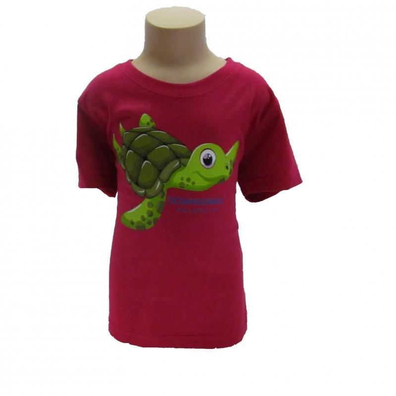 Camiseta Infantil Tortuga Oceanogràfic Rosa