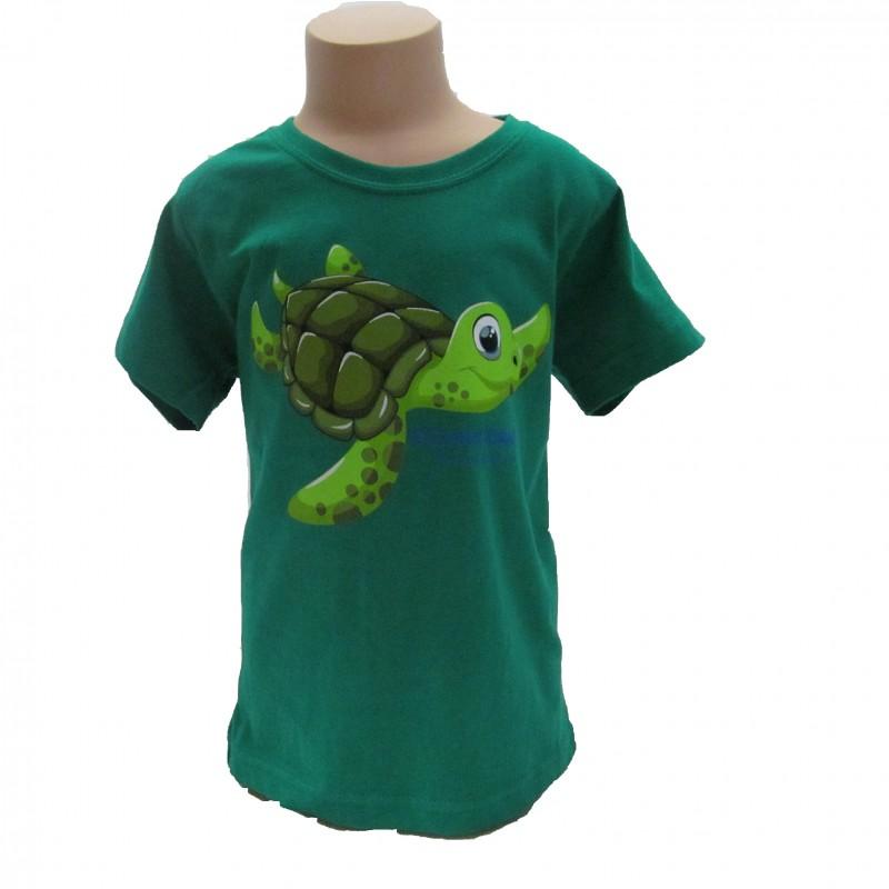 Camiseta Infantil Tortuga Oceanogràfic Verde