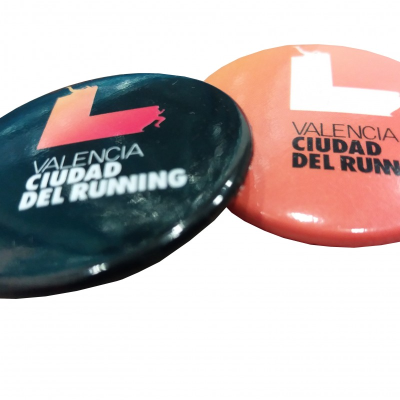 Chapa Imperdible Valencia Running