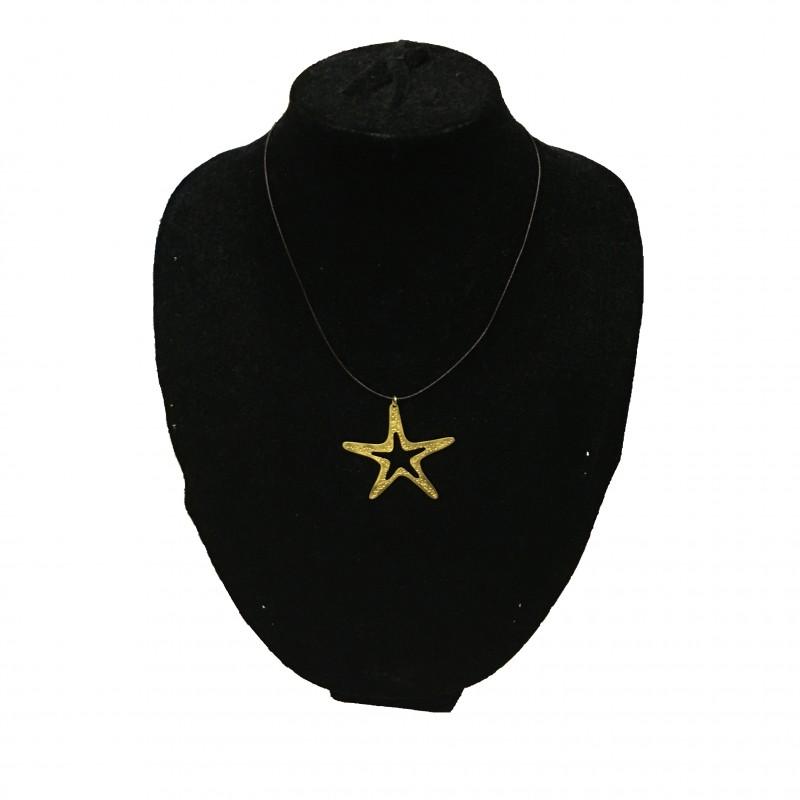 Colgante Estrella Oro Corto