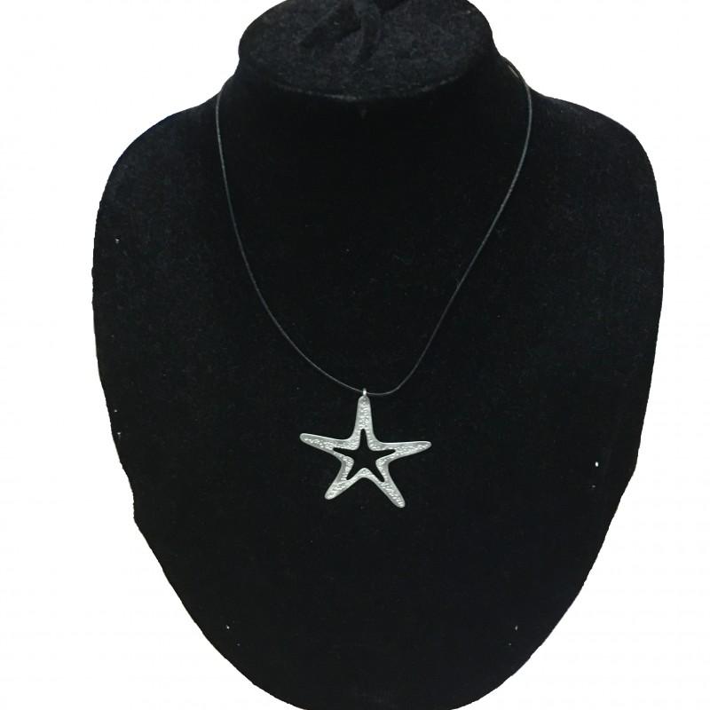 Colgante Estrella Plata Corto