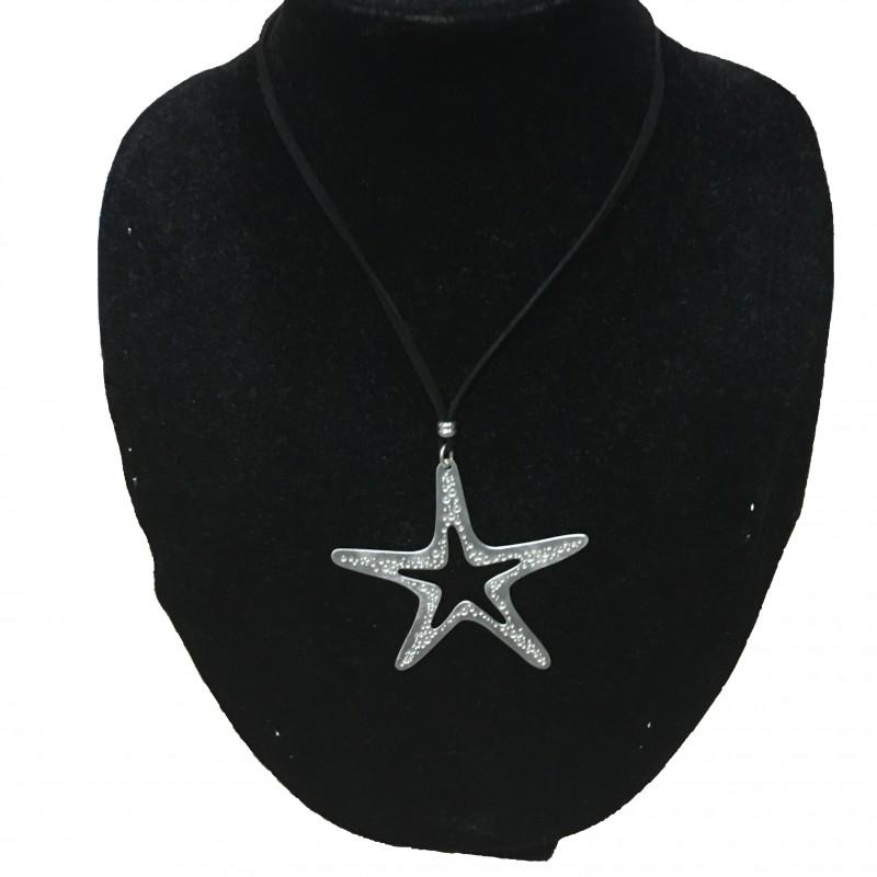 Colgante Estrella Plata Largo