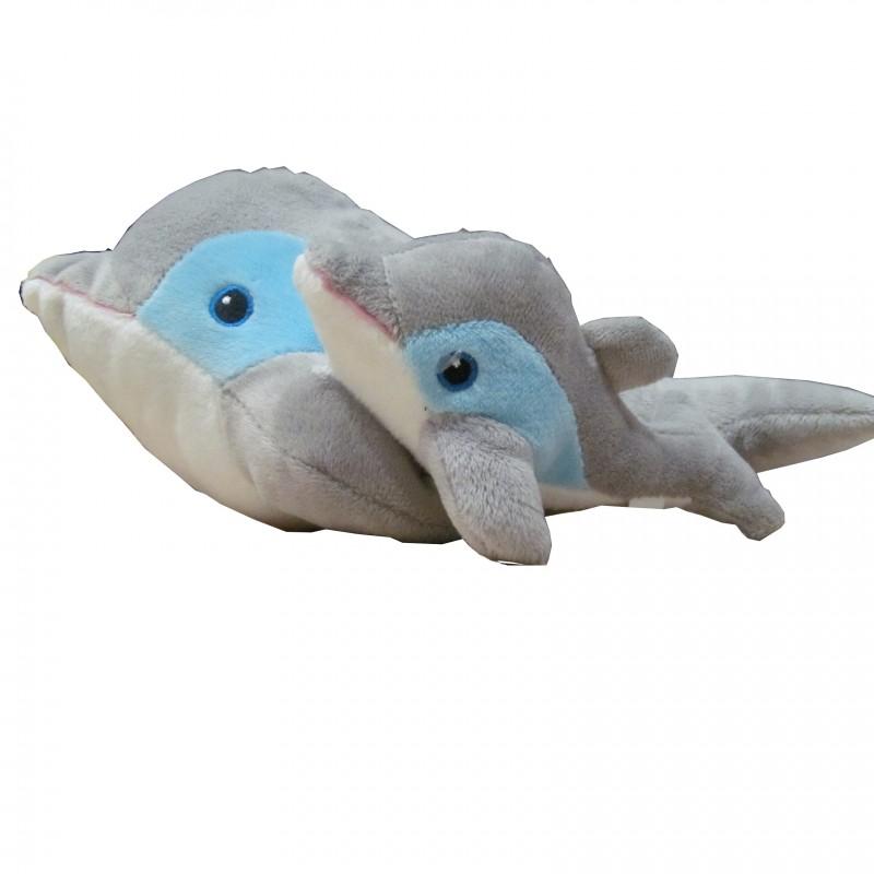 Peluche Delfín con Cría 27Cm