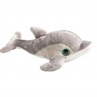 Delfín gris ojos brillantes 17cm