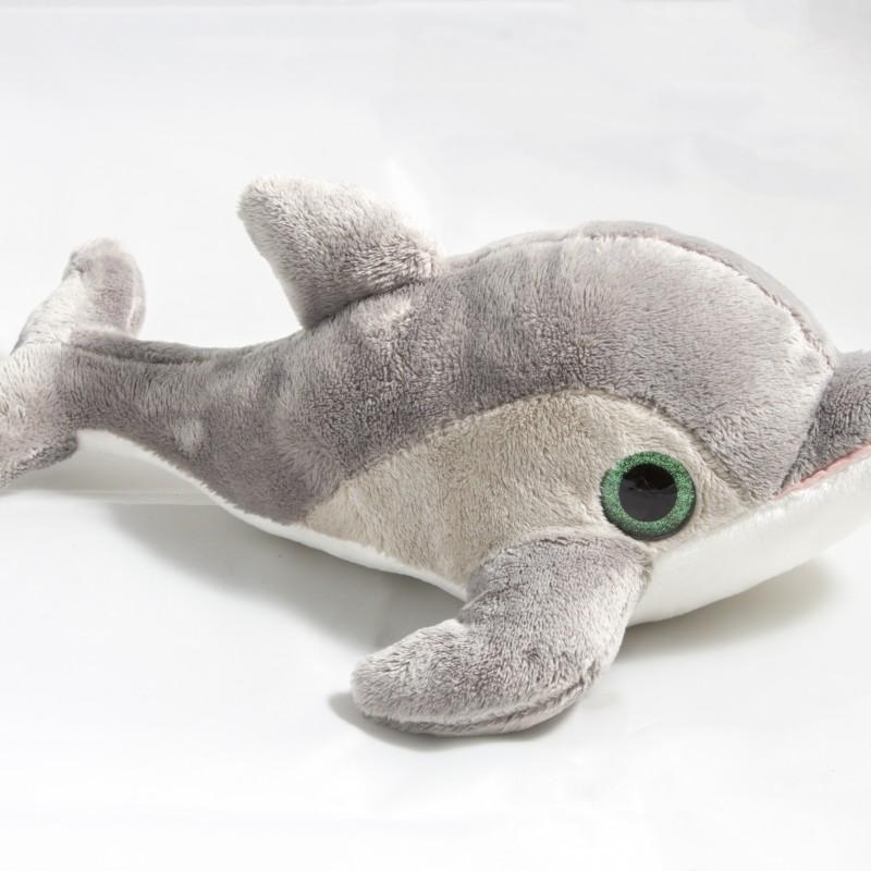 Delfín Gris Ojos Brillantes 27cm