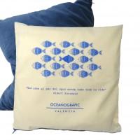 Funda de Cojín Loneta Peces Oceanogràfic
