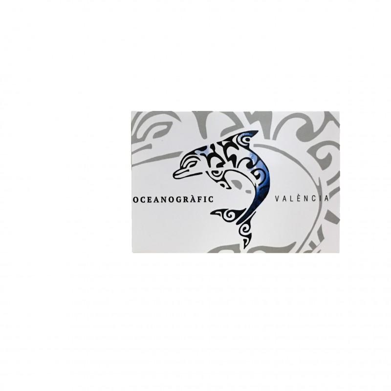 Imán Delfín Blanco Oceanográfic