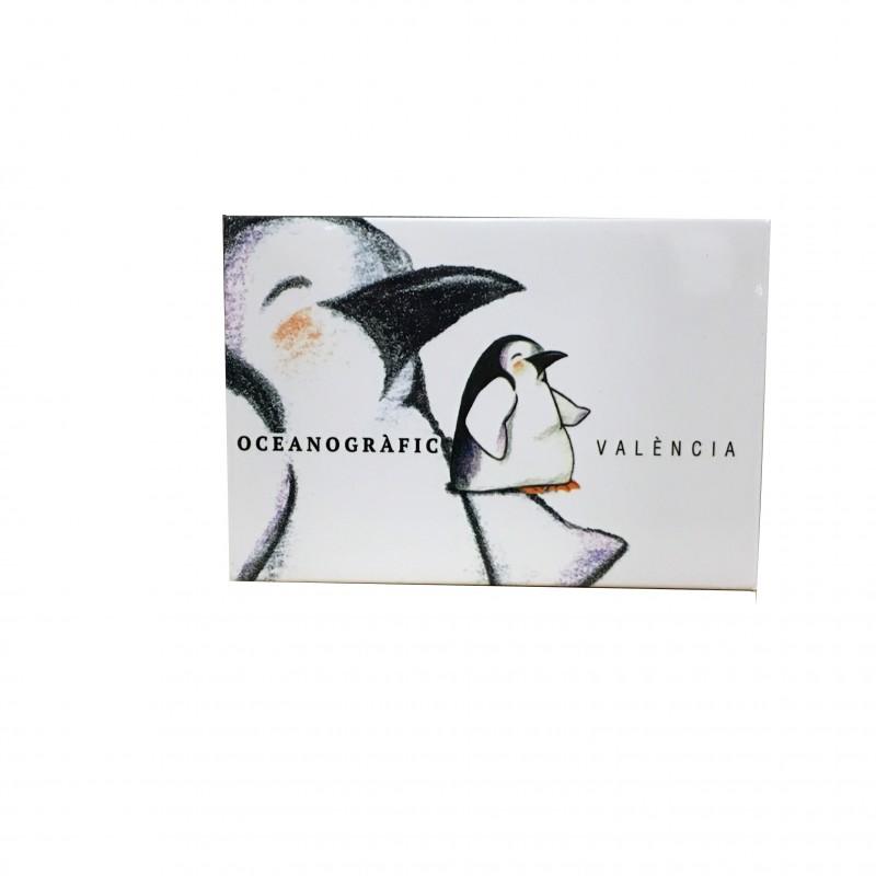Imán Pingüino Blanco Oceanográfic