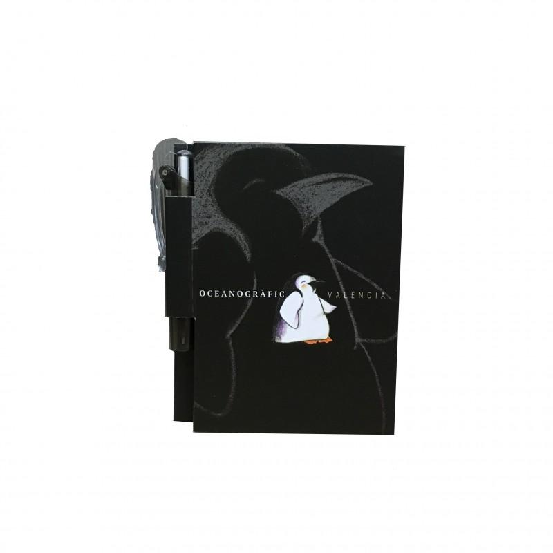 Libreta con Bolígrafo Pingüino Oceanográfic