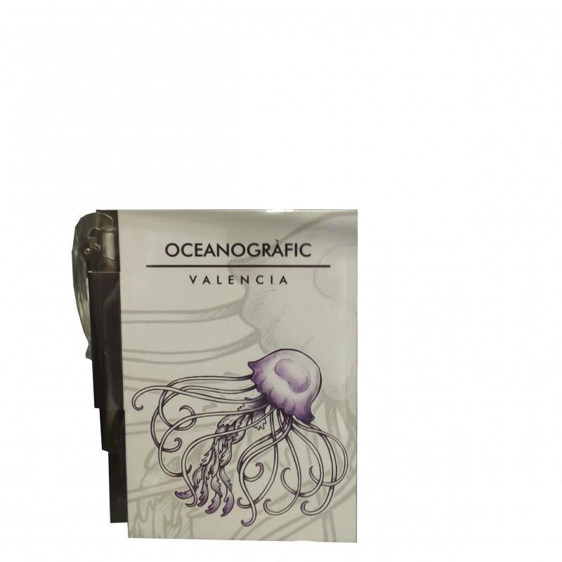 Libreta con Bolígrafo Medusa Oceanogràfic