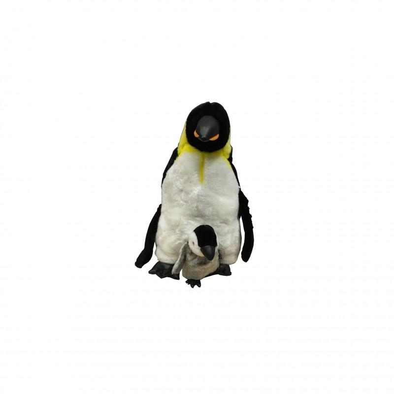 Paluche Pingüino con Cria 43 cm