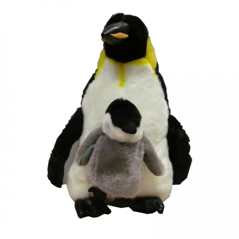 Peluche Pingüino con Cría 30 cm