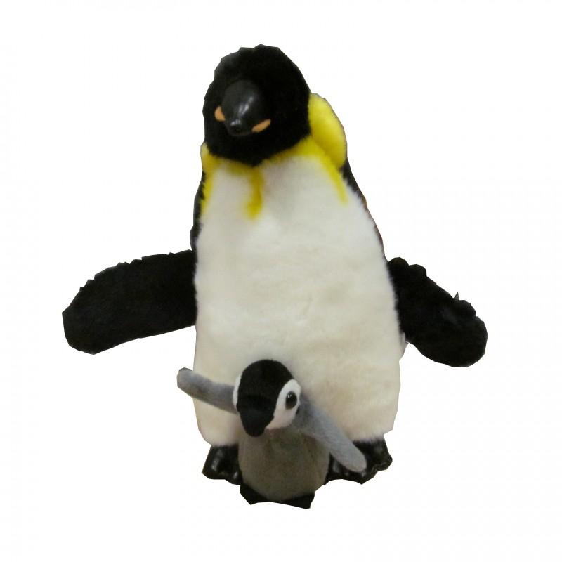 Peluche Pingüino con Cría Pequeño