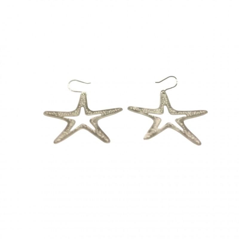 Pendiente Estrella Plata Gancho