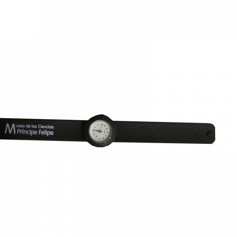 Reloj Slapband Negro Museo de las Ciencias