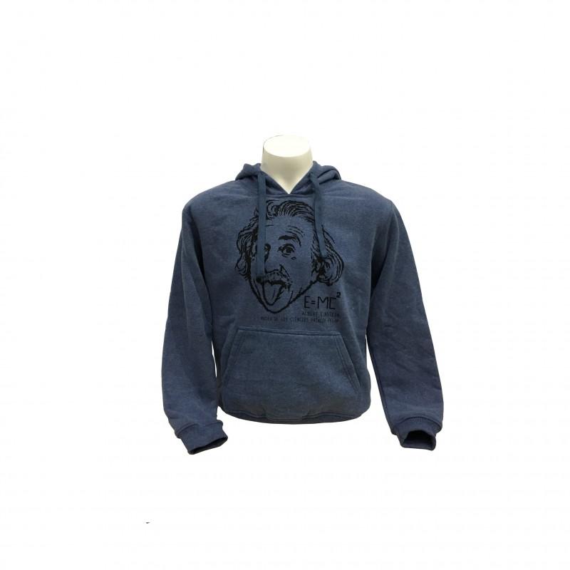 Sudadera Adulto Einstein Museo de las Ciencias Azul