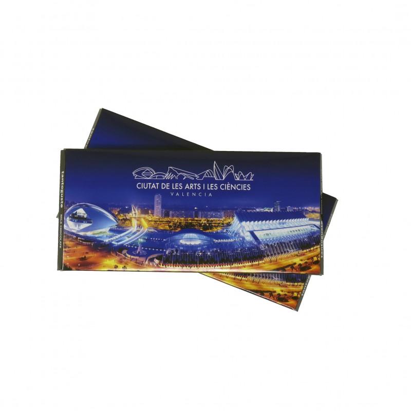 Tableta de Chocolate Ciudad de las Artes y las Ciencias 100gr.