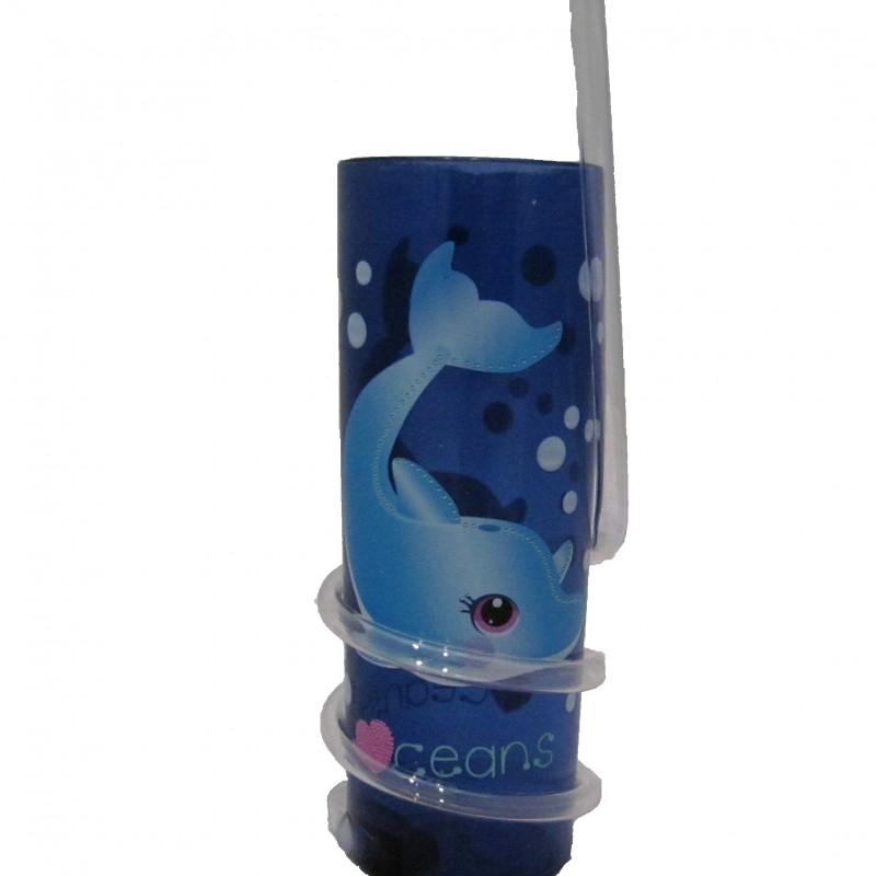 Vaso con caña Delfín Infantil Oceanogràfic