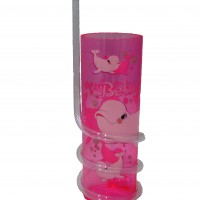 Vaso con Caña Beluga Infantil Oceanogràfic