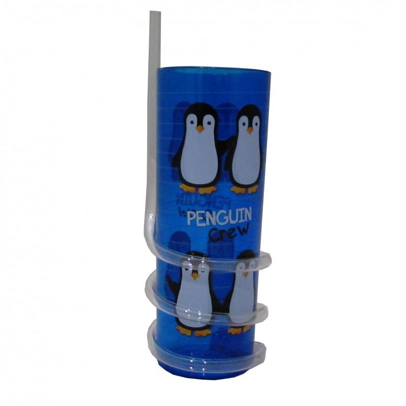 Vaso con caña Pingüino Infantil Oceanogràfic