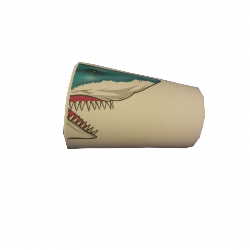 Vaso infantil bambú tiburón