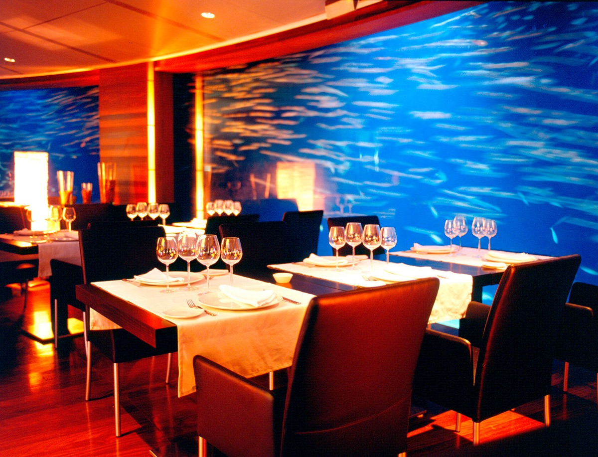 Restaurante submarino oceanogr fic de valencia for Oceanografic telefono